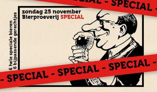 25 Nov. Bierproeverij + Foodpairing **special - special**